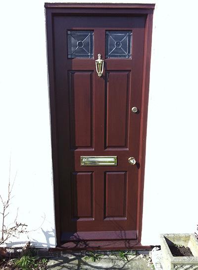 Six panel Georgian door with bullseye glazing