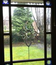 "Crystal Glass on a Victorian ""Margin"" Door"