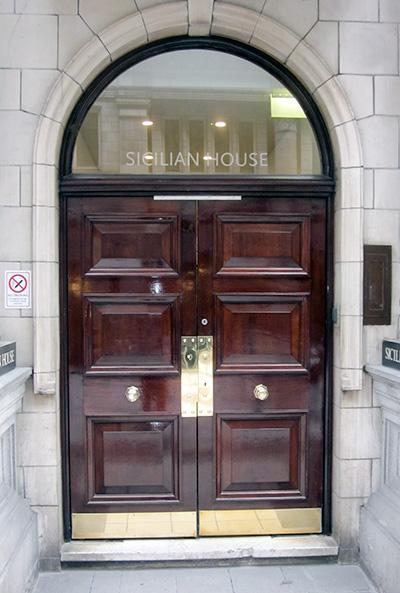 Georgian Style Wooden Doors Bespoke Office Double Doors