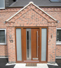 Contemporary door with glazing