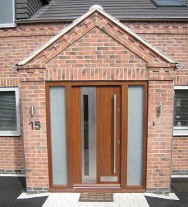 Contemporary door with glazing