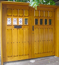 Custom Wooden Gates in the Spanish Style