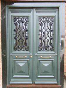 Greek Revival Door with Grill