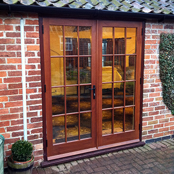 Wooden French Doors With Georgian Glazing Old English Doors