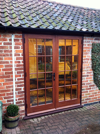 Custom Wooden French Doors in the Georgian Style