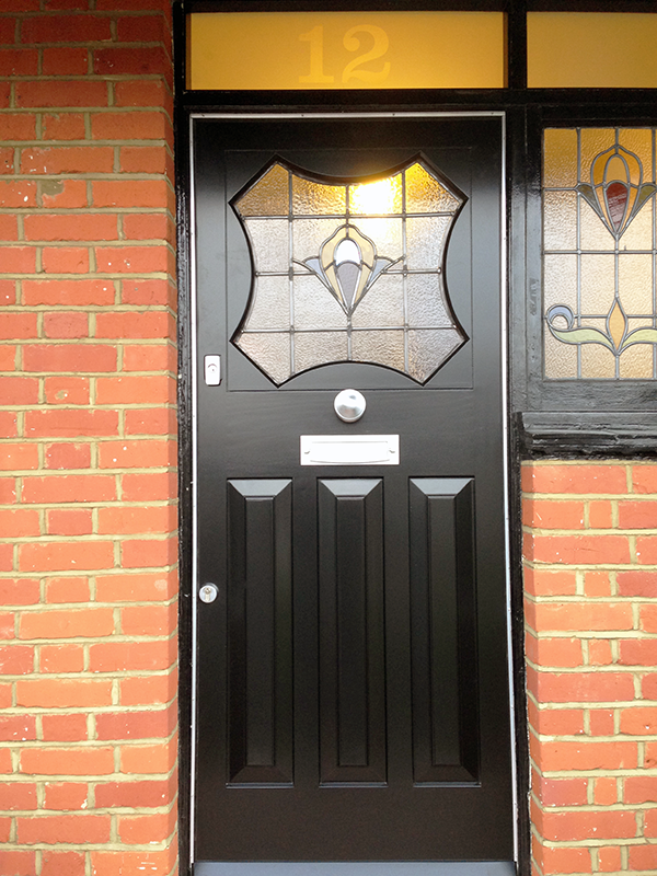 This Art Nouveau door features a slightly different design