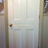 Custom interior door in the Victorian style