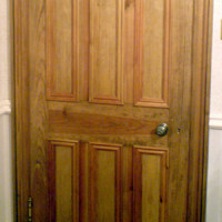 Custom interior door with 6-panel Victorian design