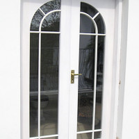 Bespoke French Doors with Circular Top