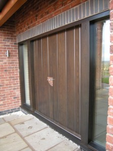 black contemporary front door from our bespoke range