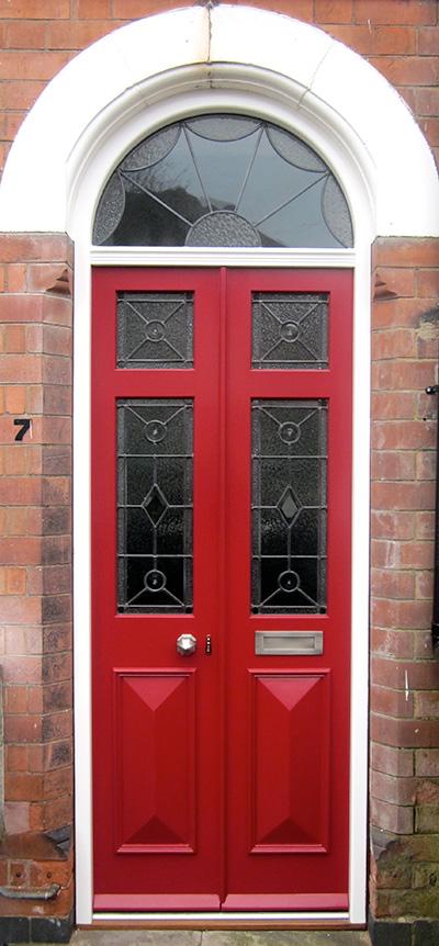 Georgian Front Door Glazed With Fanlight Old English Doors