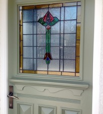 1930s door with Floral Stained Glass & 1920s front doors u2022 Old English Doors