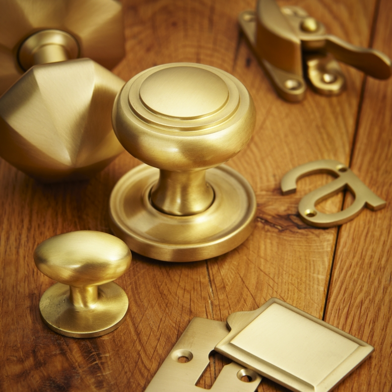 Satin Brass Door Furniture