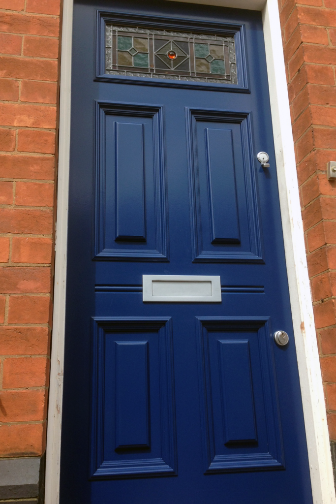 Five panel Georgian frony door with stained glass & 5-Panel Georgian Front Door u2022 Old English Doors u2022 Nottingham