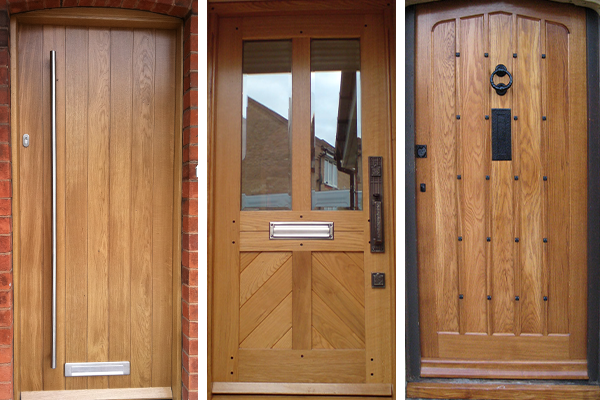 Wooden front doors high quality bespoke old english for Solid wood door construction