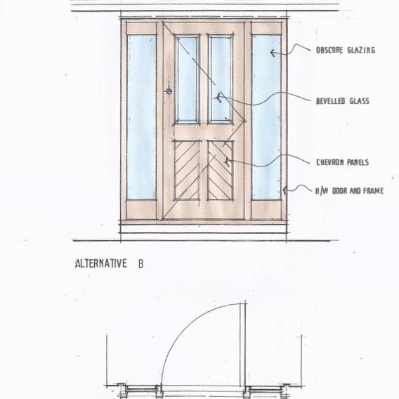 Front Door Drawing door design service • custom doors designed & made to order