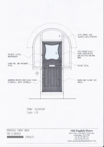 Drawing of an Art Nouveau door