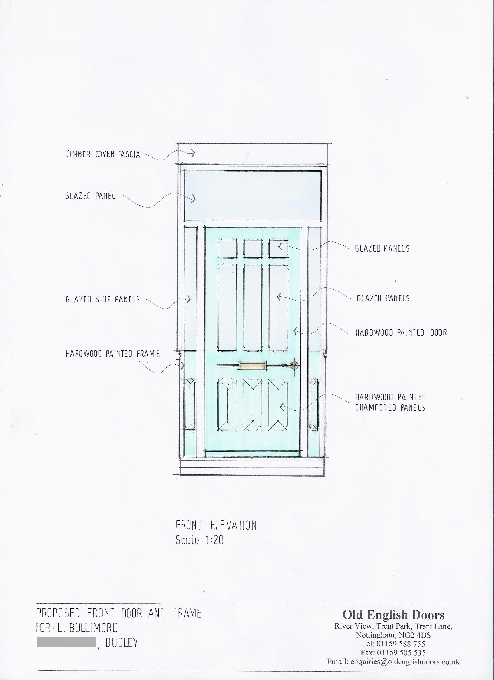 Front Door Drawing For How Our Bespoke Door Design Service Works u2022 Old English Doors