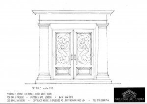 Drawing of our Georigan doors with grilles