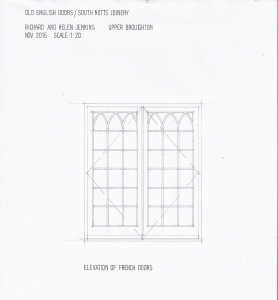 Drawing of our Gothic french doors