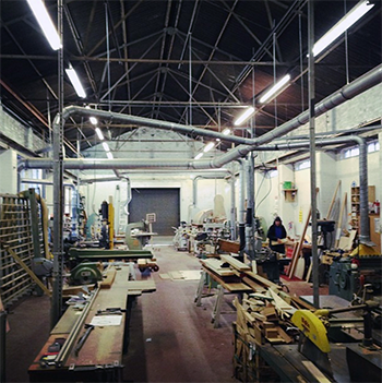 A picture of our Nottingham workshop (though we can work on projects throughout the UK)