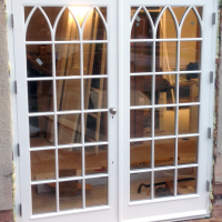 gothic french doors