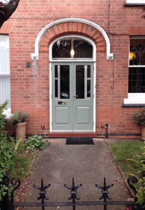 Victorian double entrance doors