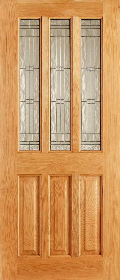 Chateaux Elegant Oak Double Glazed Entrance Door Old