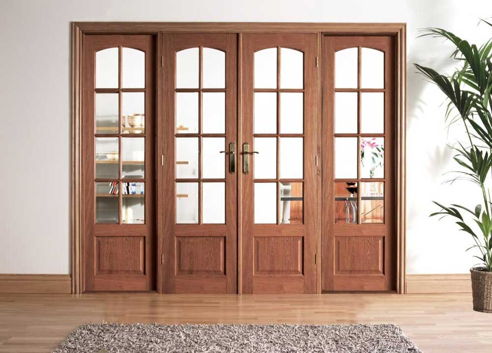 Internal french doors uk delivery from our nottingham for Hardwood french doors