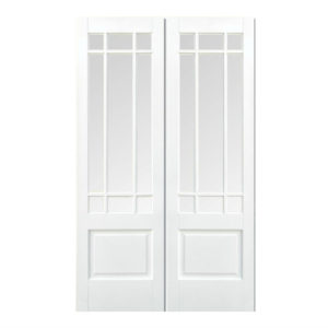 Downham double doors in white