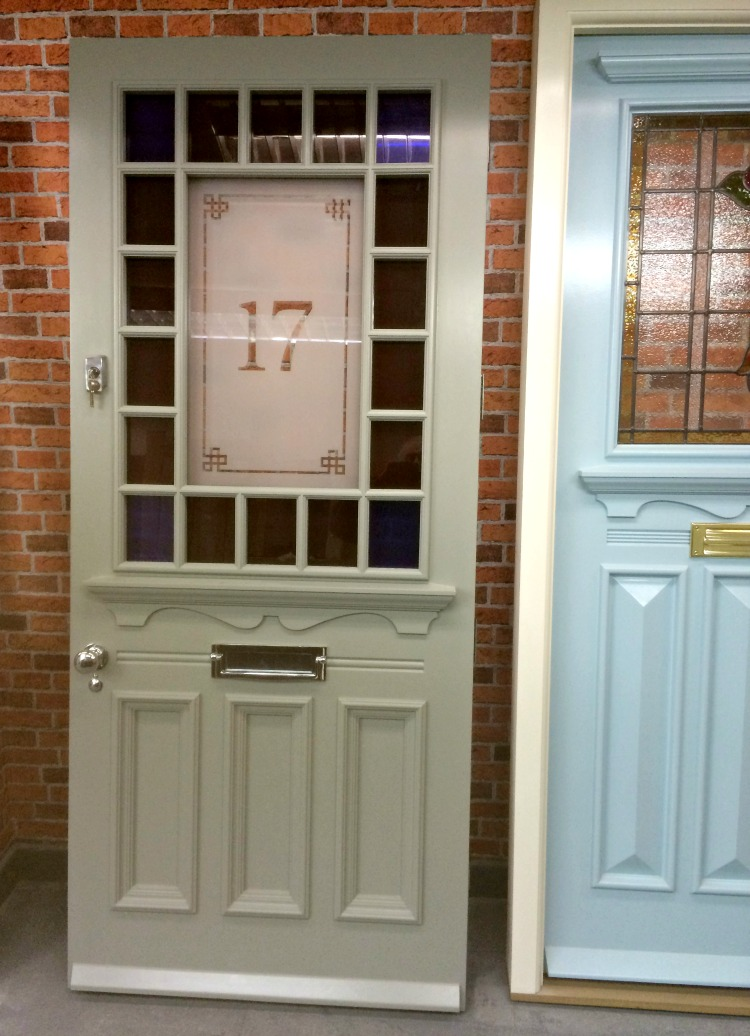 1930s door in the Devonshire style with margin glazing