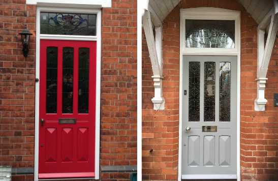 a doorsandwindows sand front windows glazing opal and why door sovereign with sussexsurrey furniture chrome regal compositedoors image in black doors blasted essex panel side choose composite
