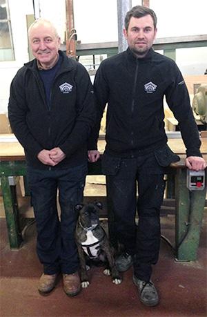 Michael & Daniel in our Nottingham workshop