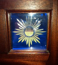 Blue Sunburst Strained Glass