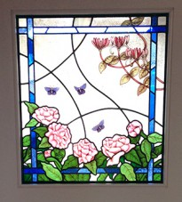 Floral & Butterfly design Stained Glass