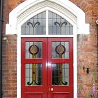 three panel victorian door