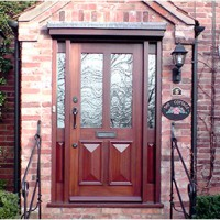 Victorian front door with chamfer panels