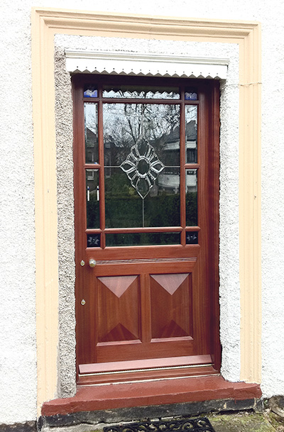 victorian traditional margin-door with cut glass glazing