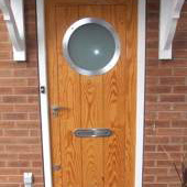 Contemporary door with porthole