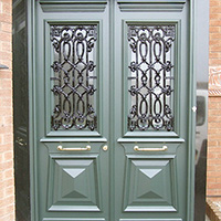 Traditional greek revival door