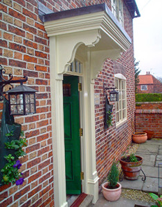 Georgian front door with porch and surround