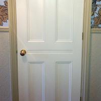 Custom interior door in the Victorian style