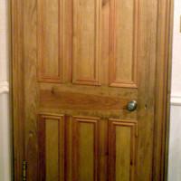 Custom interior door with 6-panel Victorian design