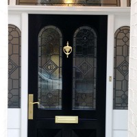 Wooden front doors in the Victorian style