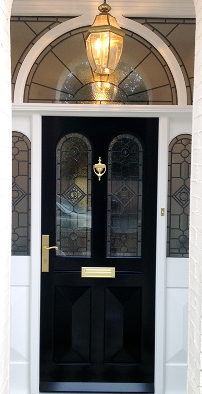 Grand Victorian Doors With Stained Glass Old English Doors