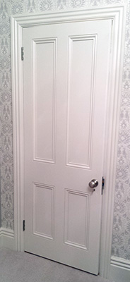 Victorian interior door with doorknob