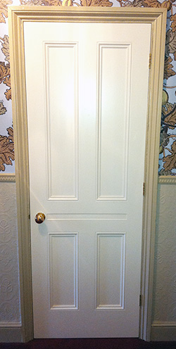 Victorian internal doors with traditional 4-panel design