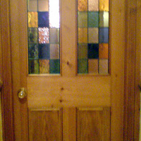 Victorian internal door with glazed panel