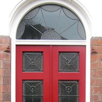 Georgian door with glazing