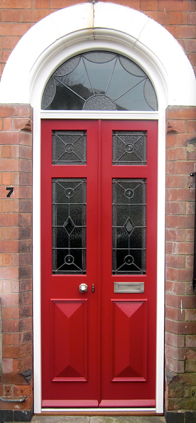 Georgian front door with bullseye glazing